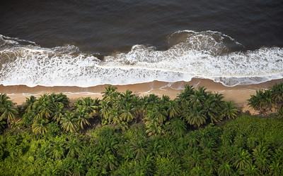 Aerial view of Liberia