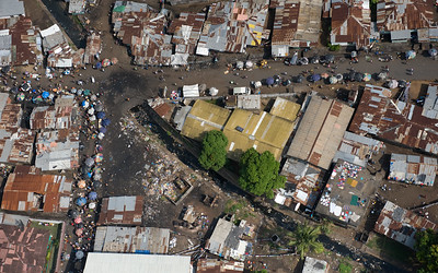 UNMIL Photo/Christopher Herwig,  December13 2008, Monrovia, Liberia - Aerial view from an UNMIL helicopter over Monrovia, Liberia during a recon mission by UNPOL and Liberian National Police.