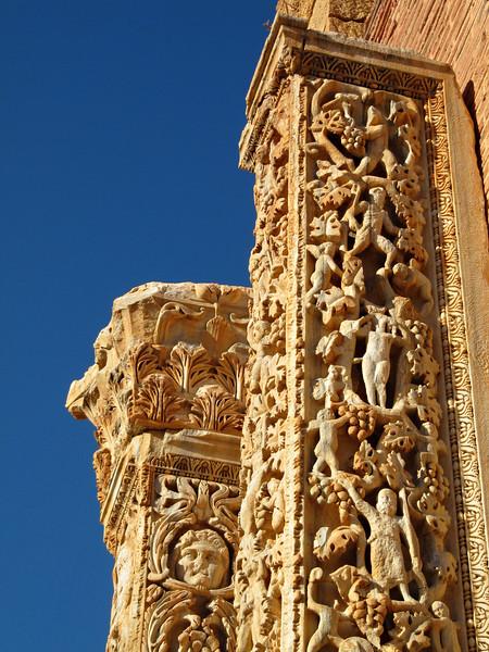 Bacchus column, Severan basilica, Leptis Magna