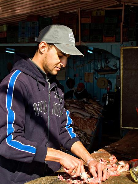 Fish seller, al Khums
