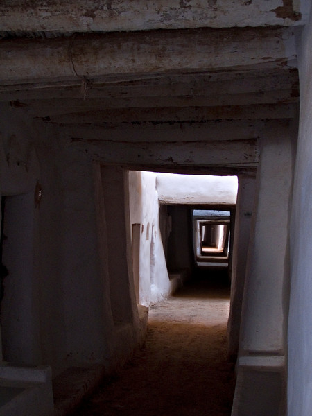 Ghadames.  This and other shots are typical of the town streets, with light provided via strategically placed openings.