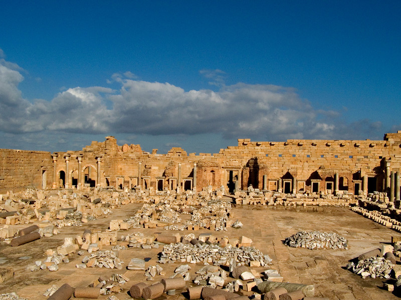 New forum, Leptis Magna.  The forum measures about 15 acres (6 hectares).