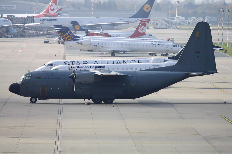 """115 Lockheed C-130H Hercules """"Libyan Air Force"""" c/n 440 Dusseldorf/EDDL/DUS 30-10-11"""