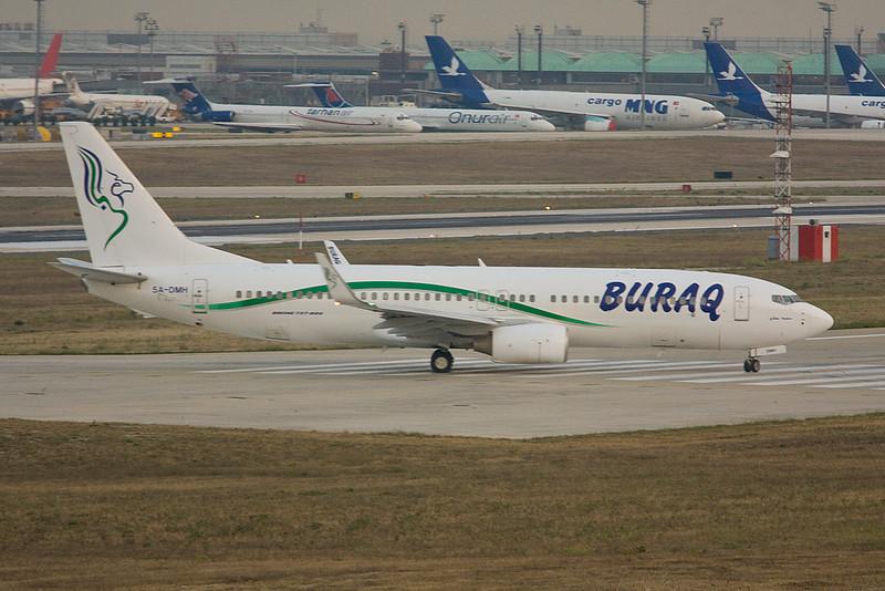 """5A-DMH Boeing 737-8GK """"Buraq Air"""" c/n 34949 Istanbul-Ataturk/LTBA/IST 14-09-09"""