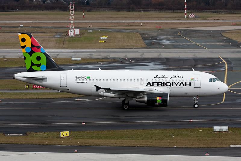 "5A-ONC Airbus A319-111 ""Afriqiyah Airways"" c/n 3615 Dusseldorf/EDDL/DUS 25-02-10"
