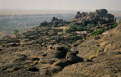 A village on the plateau, Dogon Country...