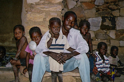 Ibrahim, my guide, and his family...