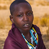 This young woman entered our campground in search of water.  The land is so dry in the summer, they often go a full day without water.
