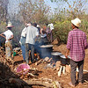 Cooking for morning feast at Famadihana, Central Highland Area, Madagascar