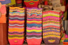 Brightly colored wares at the Artisan Market