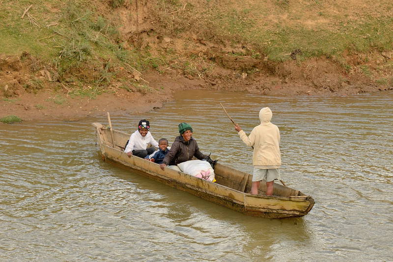 A ferryman crossing the Ikopa River