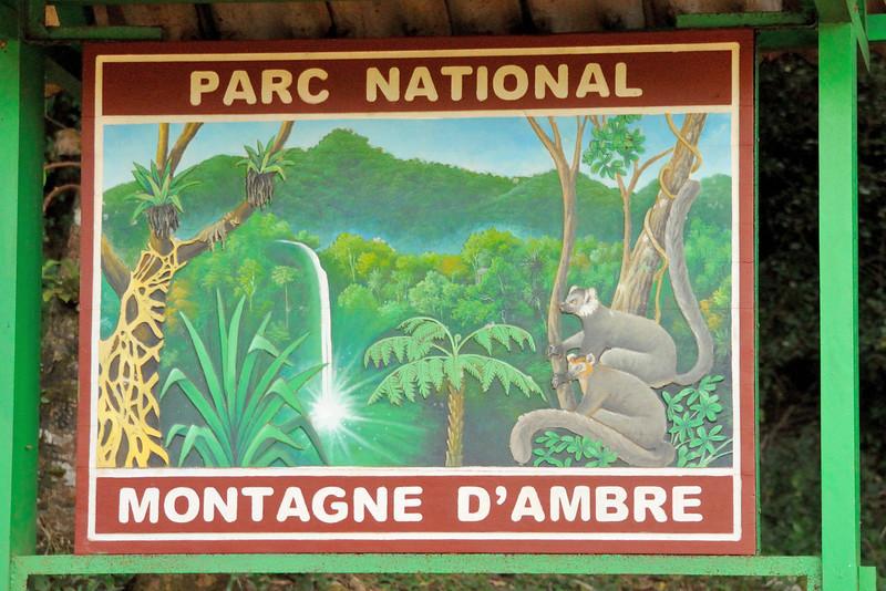 Entrance to Montagne d'Ambre National Park