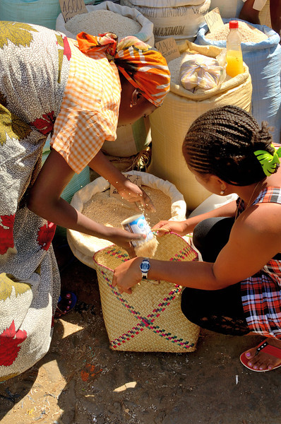 Here as in the rest of Madagascar, rice is the staple of the diet.