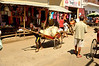 Rickshaws move goods and people around the Antsiranana market