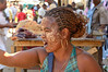 Women in Antsiranana (Diego-Suarez)  especially Comorans, wear a beauty mask to keep their skin soft and clear.