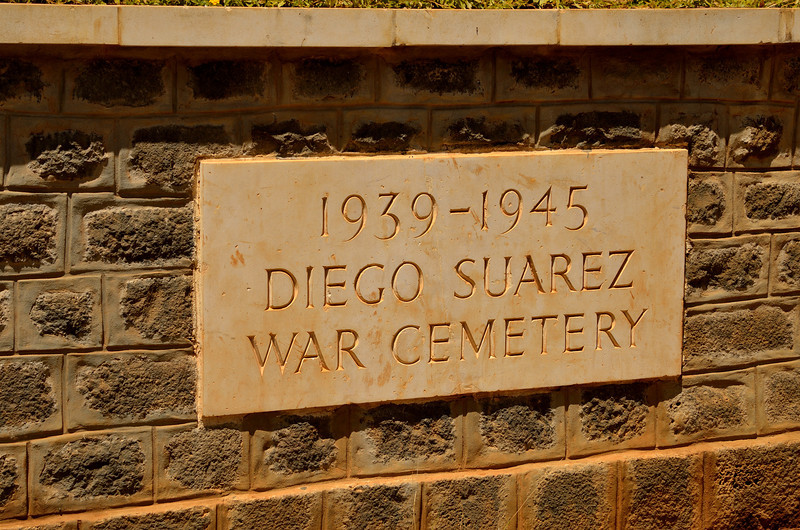 The Diego Suarez War Cemetery is the final resting place for Allied Servicemen who died in World War 2, especially during the Battle of Madagascar, the British campaign to capture Vichy French-controlled Madagascar. It began with Operation Ironclad, the seizure of the port of Diego Suarez on the northern tip of the island, on 5 May 1942. A subsequent campaign to secure the entire island, Operation Streamline Jane, was opened on 10 September. Fighting ceased and an armistice was granted on 6 November.