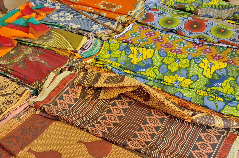 Malagasy women have a taste for bright, boldly patterned fabric.
