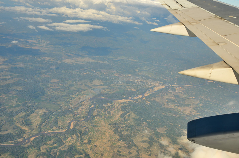 Then back over land heading south to the center of Madagascar and Antananarivo
