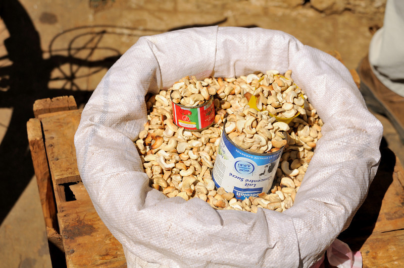 Madagascar produces about 4 million Kilograms of cashews annually.