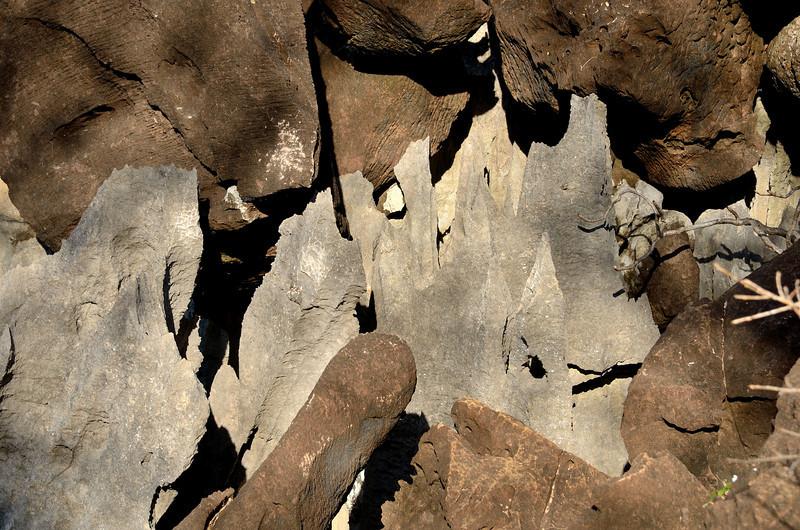 Tsingy blades are knife sharp