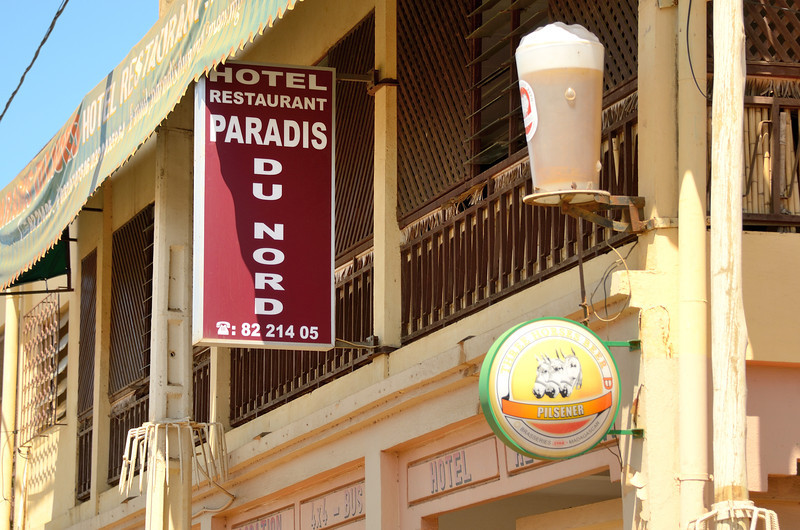 We have some traditional Malagasy dishes for lunch at Paradis du Nord Restaurant