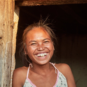Malagasy Girl of Tsahabe, In Doorway - M