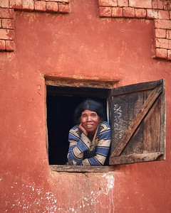 Malagasy Woman of Tsahabe, in Window - 2 - M