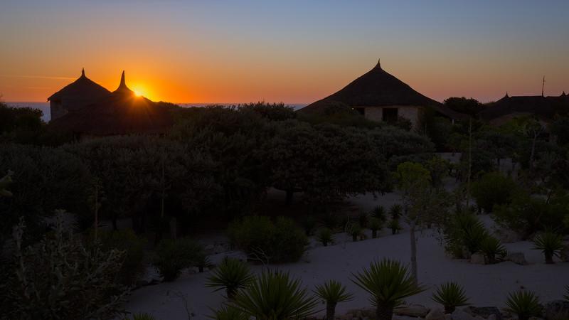 Sunset at Anako Ocean Lodge