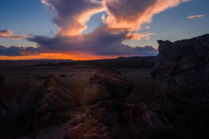 "Sunset at ""Window of Isalo"""