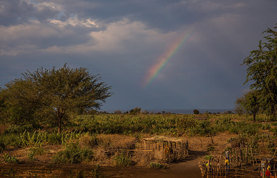 Lake Malawi We saw a rainbow as we drove along the north shore of Lake Malawi after leaving Tanzania.