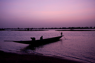 Bani river at sunset