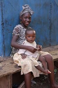Girl with baby, Bamako