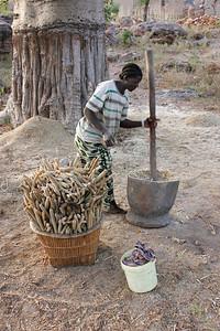 Pounding millet