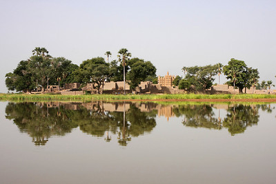 Village on the Bani river