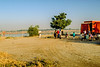 Rest area on the banks of river Niger