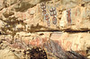 Dogon rock paintings on the ceremonial site in the village of Songo