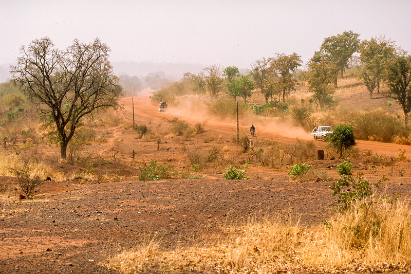 Reasonably vegetated laterit soil during the first hours after we left Bamako.