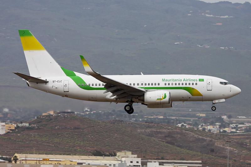 "5T-CLC Boeing 737-7EE ""Mauritania Airlines"" c/n 34263 Las Palmas/GCLP/LPA 02-02-16"