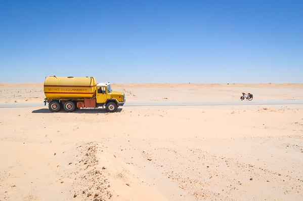 Service environnement in the desert