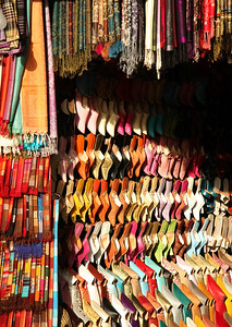 Colorful wares on display...there must be a thousand of these shops!