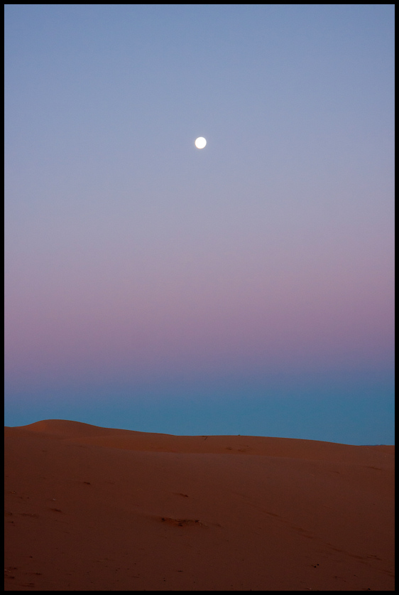 Erg Chebbi dunes at sunrise