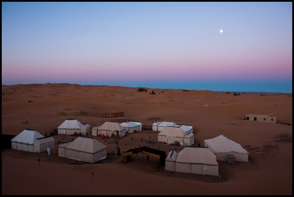 Our camp in the Erg Chebbi sand dunes