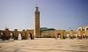 <center>Hassan II Mosque and Courtyard   <br><br>Casablanca, Morocco   <br><br>The mosque opened in 1993 and by royal edict is open to all visitors.    </center>