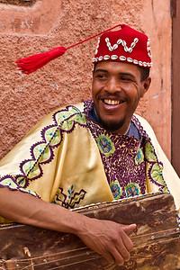 Sudanese musicians on the street in Marakesch