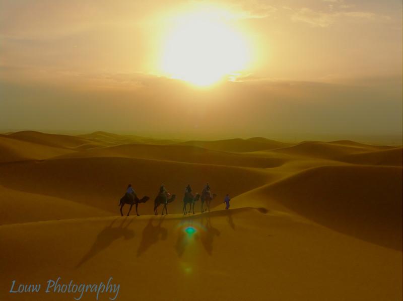 Sahara sunrise.