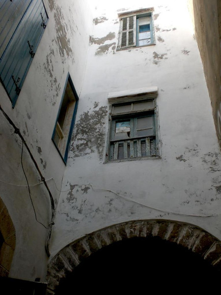 A window in Essaouira, Morocco.
