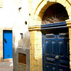 A blue door in Essaouira, Morocco.