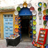 Plates on display in Essaouira, Morocco.