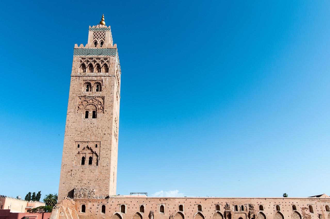 Minaret of Koutoubia Mosque in Marrakech, Morocco