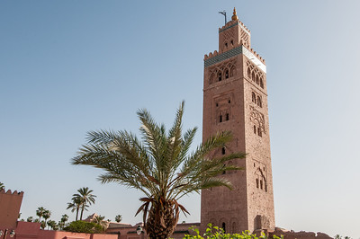 Minaret of Koutoubia Mosque in Marrakech, Morocco